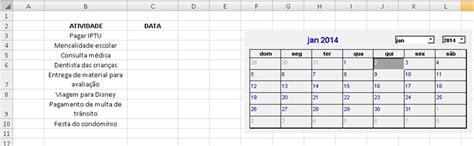 Inserir Calendã No Excel 2010 Como Adicionar Um Calend 225 No Excel 2007