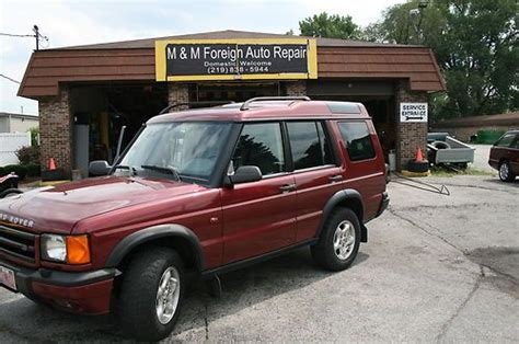 land rover burgundy purchase used land rover discovery ii 2000 suv 4 dr mint