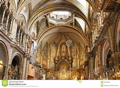 int 233 rieur de basilique dans montserrat espagne photos