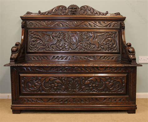 antique settle bench antique victorian oak settle bench hall seat antiques