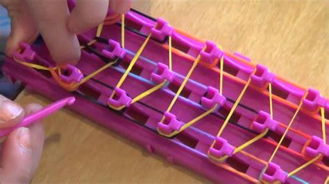 cara membuat gelang rainbow loom cara membuat loom bands dan rainbow loom memakai braket