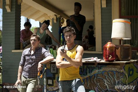 how to make a film in a neighbors town neighbors movie production stills and red band trailer