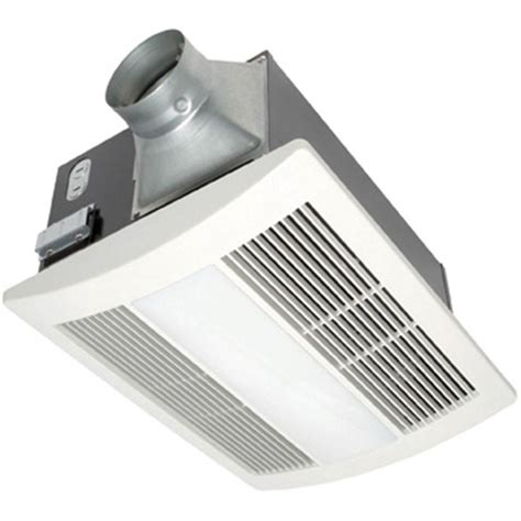 bathroom fan with light and heater panasonic whisperwarm 110 cfm ceiling exhaust bath fan