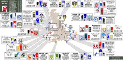 map uk football clubs football football and logos on