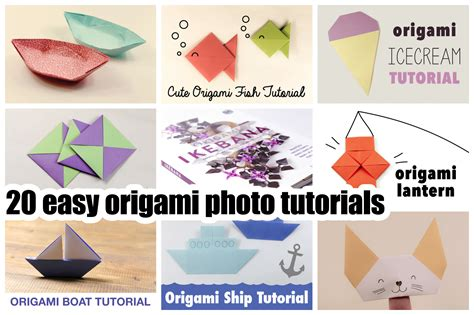 Simple Origami Tutorial - origami step by step images images