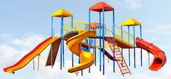 slide and swing combo amusement games playground equipments manufacturer