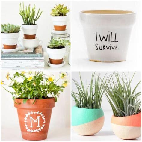 como decorar plantas con macetas ideas para decorar macetas de forma original