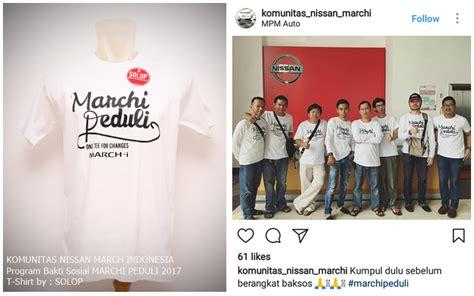 Kaos Otomotif Mobil Nissan March Fontbaju Distro Mobil Tshirt Balap sablon kaos event baksos nissan march indonesia dengan