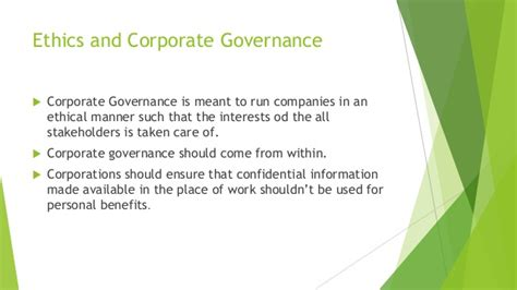 Mba Degree Business Ethics And Corporate Governance by Business Ethics And Corporate Governance Rating