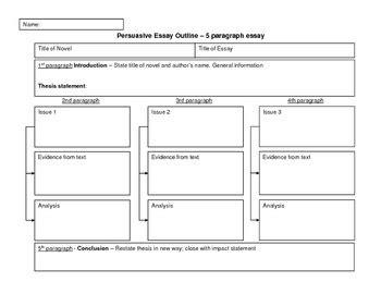 essay structure graphic organizer persuasive essay outline graphic organizer by teach and