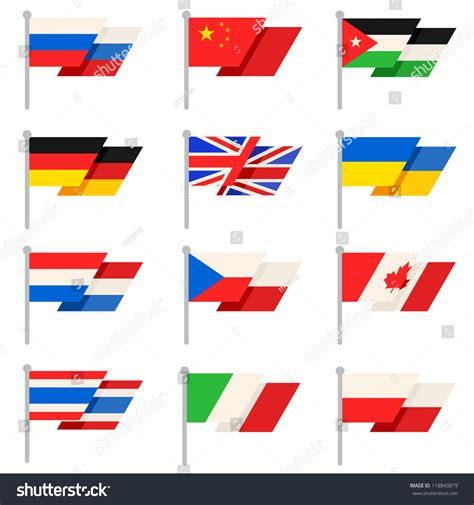 flags of the world vector stylish world flags vector 118843879 shutterstock