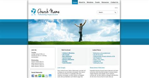free joomla 2 5 template social activities and church