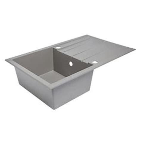 plastic resin kitchen sink drainer grey 1 bowl