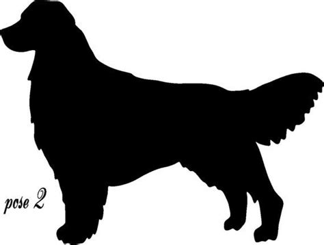 golden retriever silhouette pin by zuniga on zoo crew
