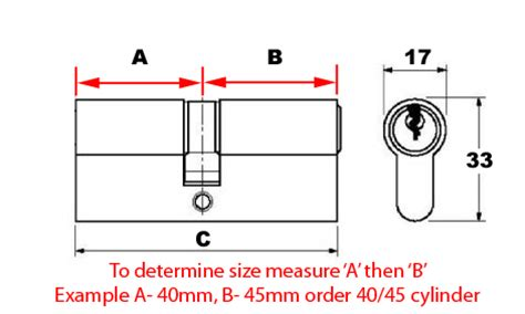 How To Measure A Door Size by Replacement Cylinder Lock Barrel For Upvc Doors 60mm