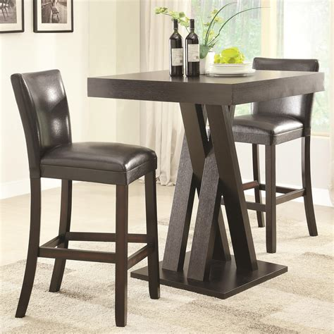 Height Of Bar Table And Stool by Coaster Bar Units And Bar Tables 3 Pc Bar Height Table And