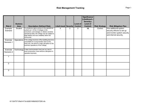 risk mitigation plan template update 59399 risk management plan exle for business