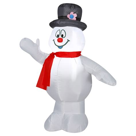 frosty the snowman with red scarf 3 5 ft inflatable yard