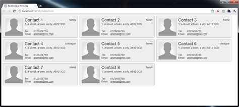backbone js layout manager build a contacts manager using backbone js part 1