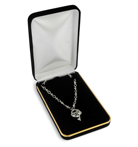necklace box velvet black velvet jewellery presentation