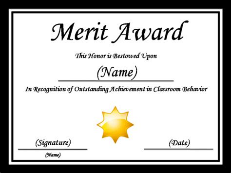 merit badge card template merit certificate template pdf blank certificates