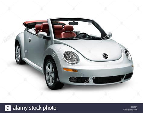 volkswagen convertible white silver 2009 volkswagen beetle convertible isolated on