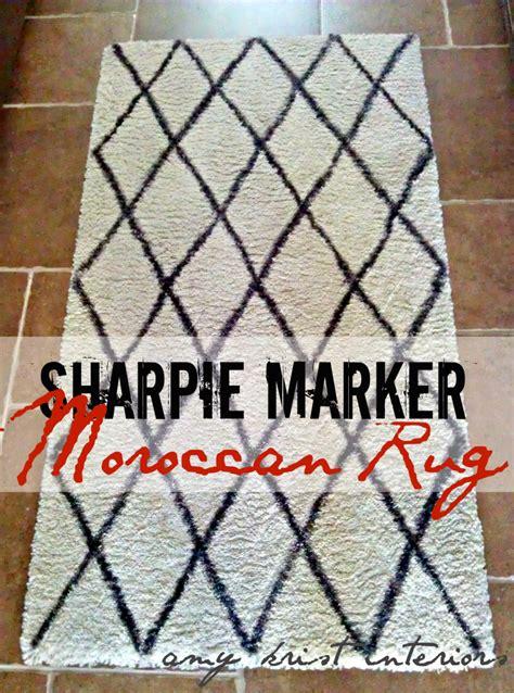 diy moroccan rug diy sharpie moroccan shag rug