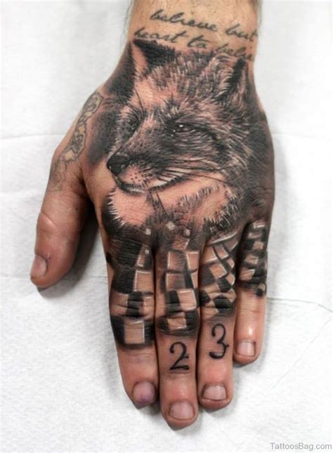 hand and finger tattoos 62 trendy wolf tattoos on