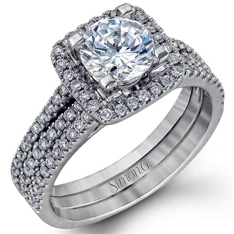 nagi bridal simon g square halo engagement