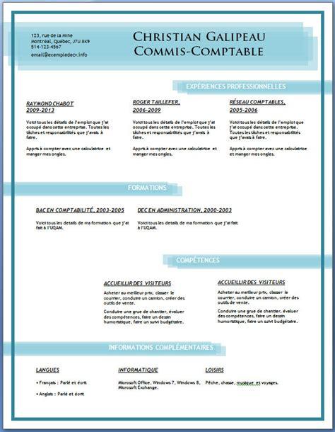 Modéles Cv by Exle Resume Exemple Cv Gratuit