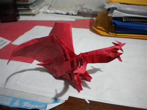 Origami 3 Headed - origami 3 headed king gidra by lhwz on deviantart