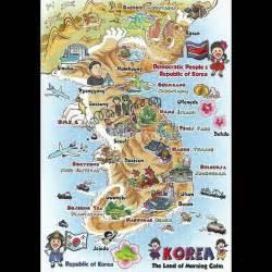 seoul map tourist attractions south korea tourist attraction map postcard