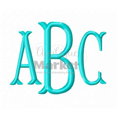 embroidery monogram fishtail monogram alphabet