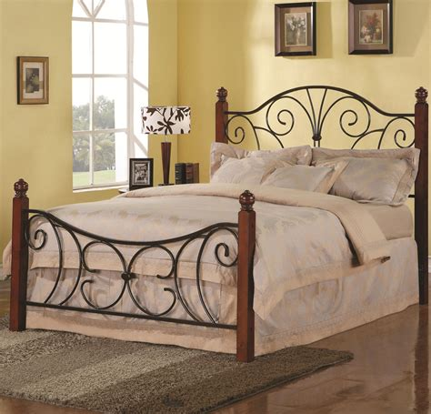 Iron Beds And Headboards Queen Wood With Metal Headboard