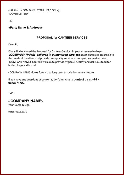 Letter For School Canteen Business Writing And Editing Services Business Template Cleaning Services