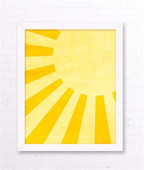 free printable wall art yellow sunshine art print yellow kids room sun wall art yellow
