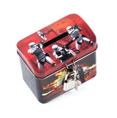 Vader E Money Card wars darth vader stormtroopers money savings tin