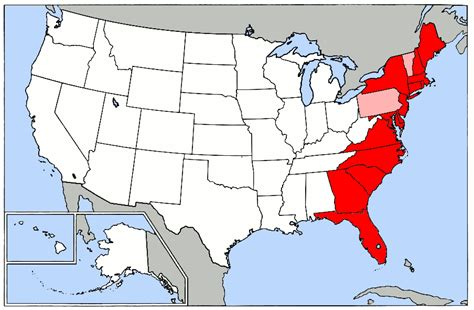 map of eastern seaboard united states eah chapter 02 apush 2013 14 with huston at laurel
