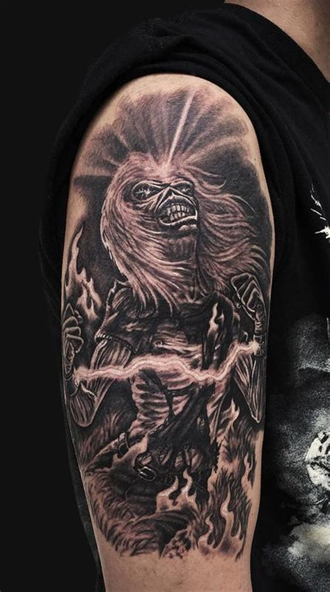 eddie iron maiden arm tattoo by jamie lee parker tattoonow
