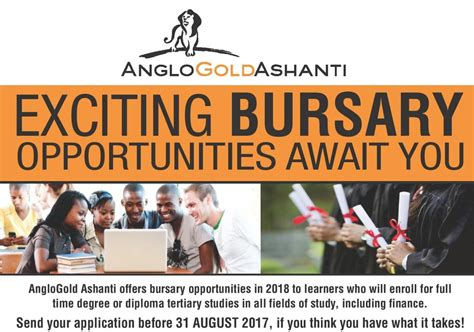 Mba Bursaries 2018 by Anglogold Ashanti Bursary Programme 2018 For South