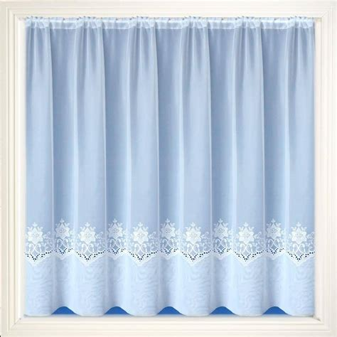 embroidered voile curtains uk chatham white embroidered voile net curtain 2 curtains