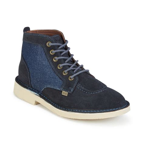 Kickers Zapato Suede kickers s legendary suede lace up boots blue