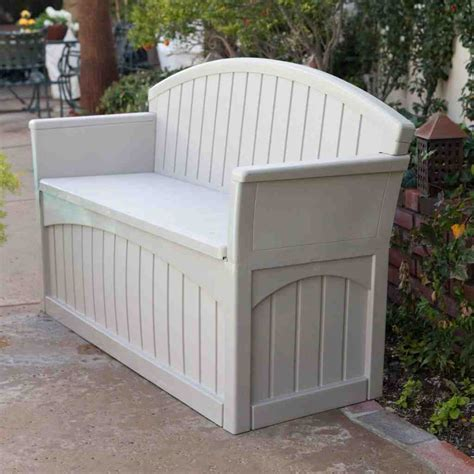 white patio bench white outdoor storage bench home furniture design