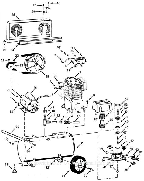 cbell hausfeld vt618901 parts diagram for air compressor parts