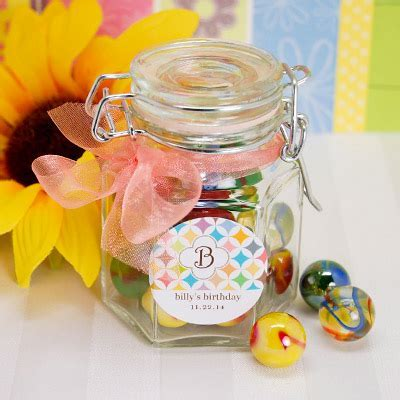 Jar of Marbles Birthday Party Favor   Ideas by Beau coup