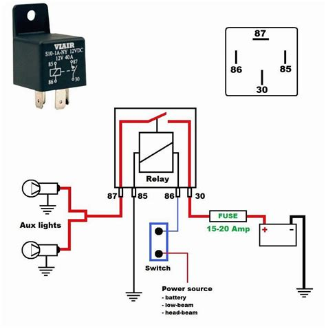 12v 40 relay 4 pin wiring diagrams wiring diagrams