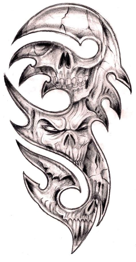 tribal skull tattoo design 40 tribal skull tattoos ideas