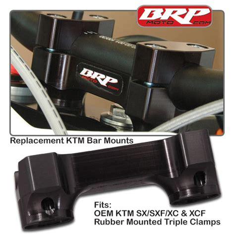 Ktm Rubber Bar Mounts Pro Sx Solid Replacement Bar Mounts For Ktm By Brp
