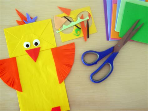 How To Make A Puppet Paper - animal paper bag puppets bunch
