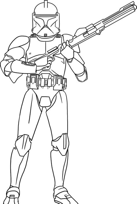 coloring pages of star wars the clone wars one of the soldiers star wars coloring pages coloring
